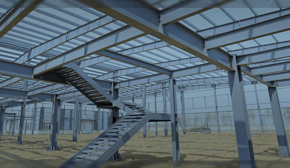 O aço em obras de construção